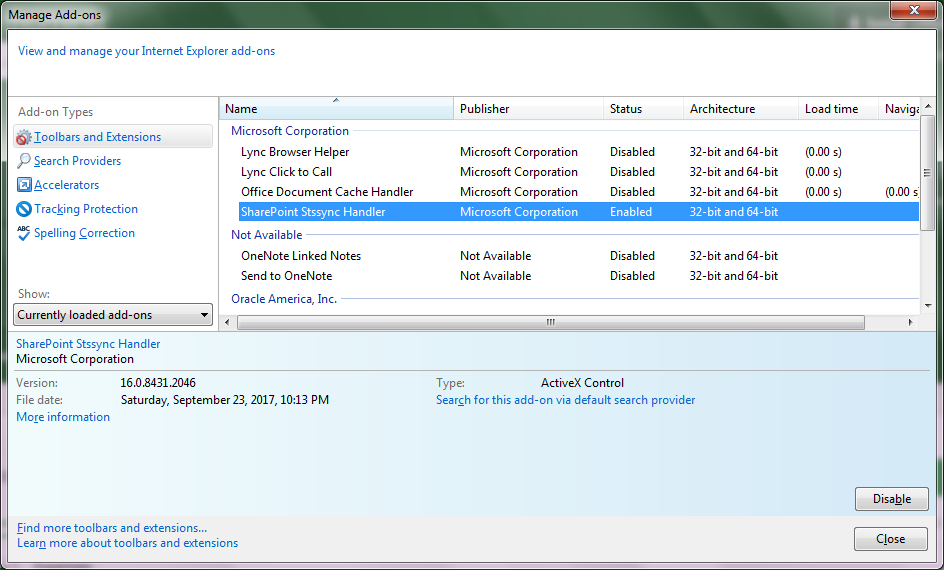 SharePoint Error - Add-ons.png