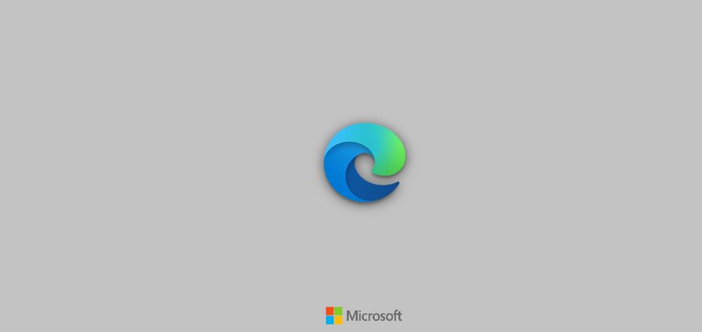 Splash Screen for Microsoft Edge set in Light Theme