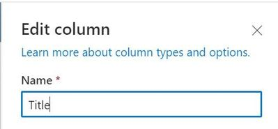 Rename the Title column to your preferred name.