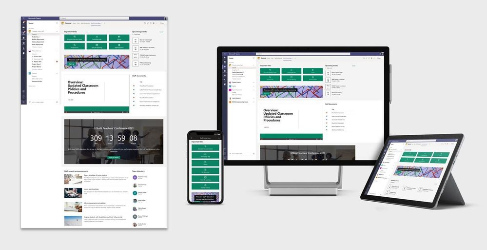 Staff home page template
