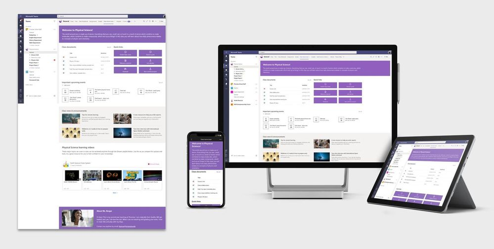 Class home page template