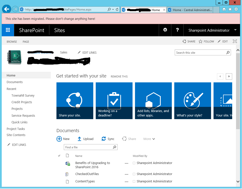 custom action to add top banner message in sharepoint using powershell.png