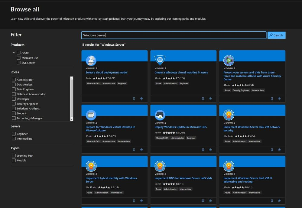 New Microsoft Learn Modules for Azure and Windows Server IT Pros
