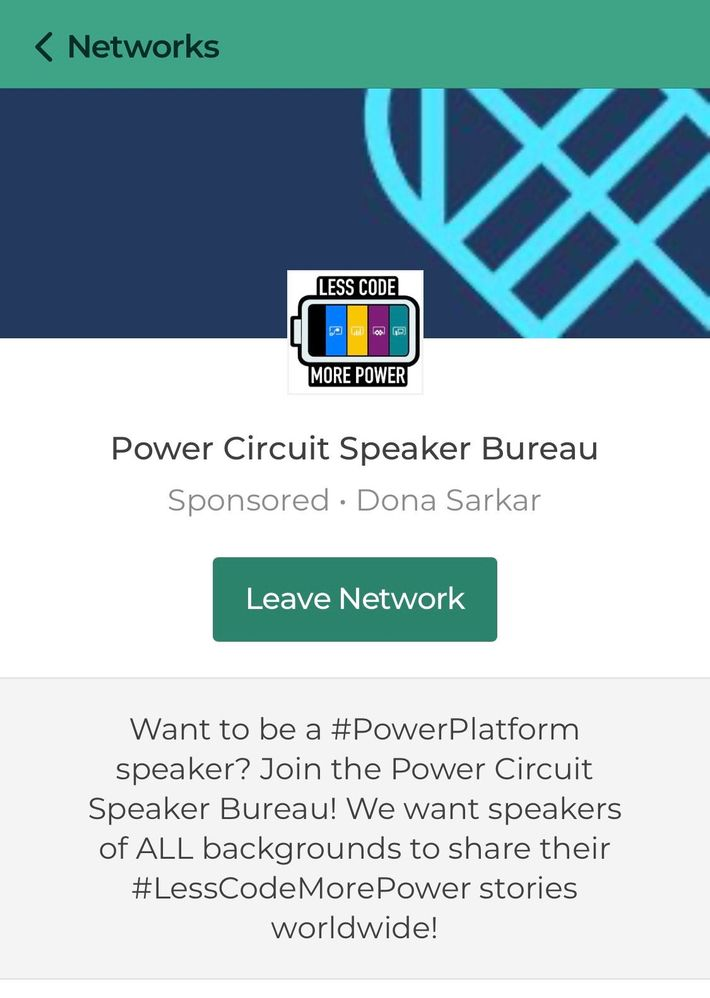 Learn about the new Power Circuit Speaker Bureau