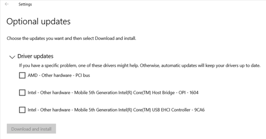 How optional driver updates will appear in Windows 10, beginning with the August 2020 update