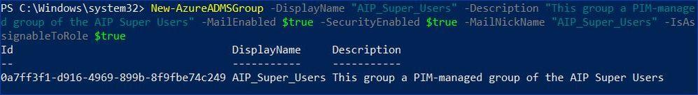 Figure 3: Creating a new Microsoft 365 group using PowerShell