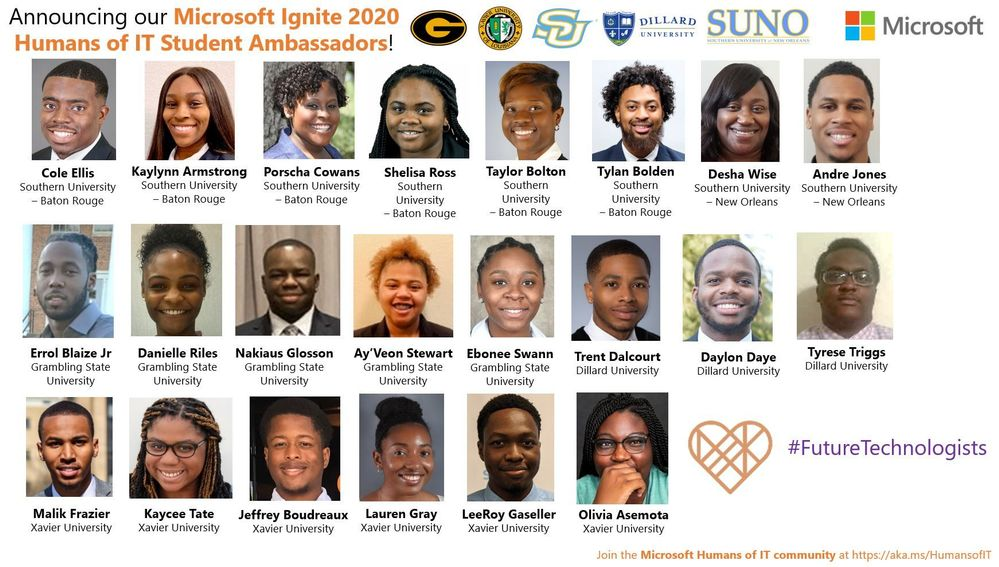 Say hello to our Microsoft Ignite 2020 Humans of IT Student Ambassadors!