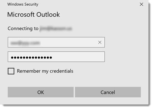 Outlook Basic Authentication Prompt