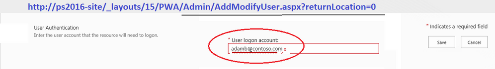 User Logon Account - issue