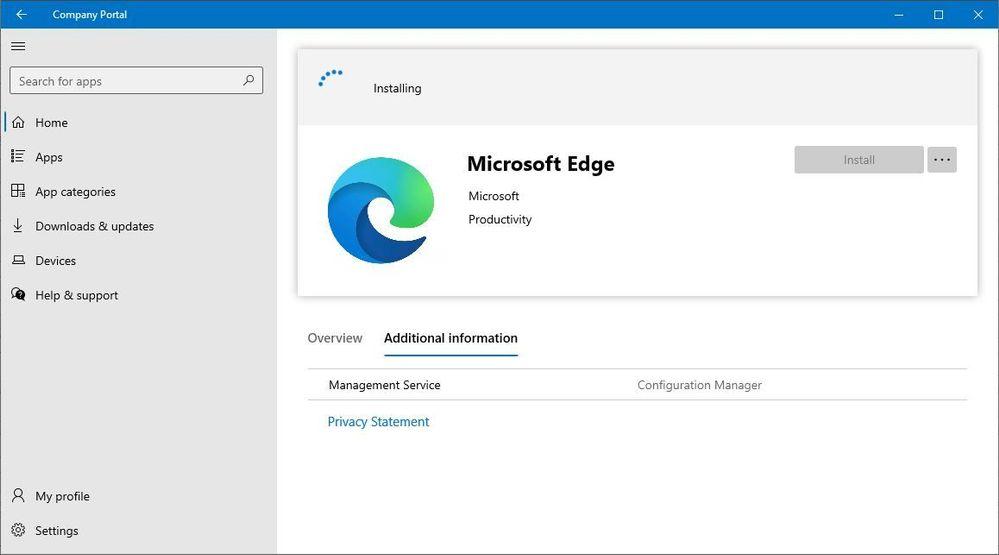 configmgr apps in company portal