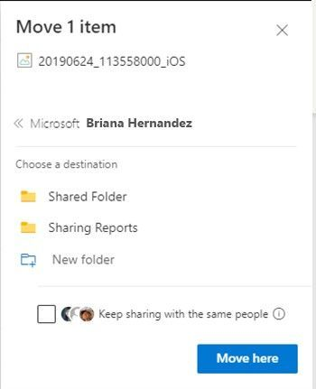 When you move a file to a new location in Microsoft 365, you will have the option to continue sharing the file from its new destination.