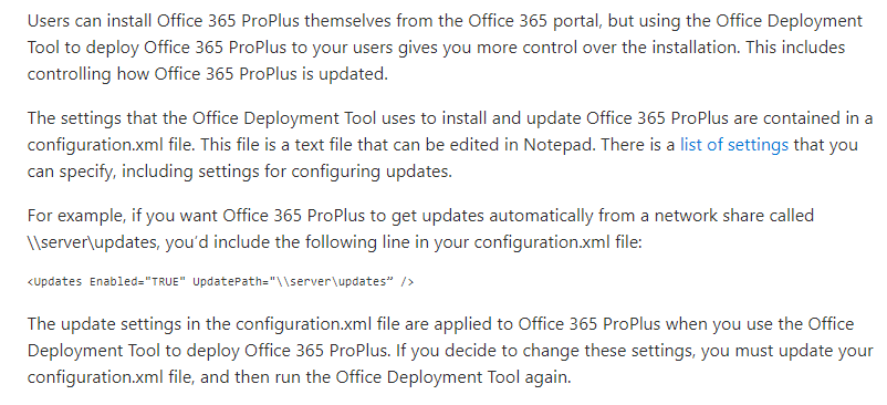 Use the Office Deployment Tool to configure update settings for Office 365 ProPlus.png