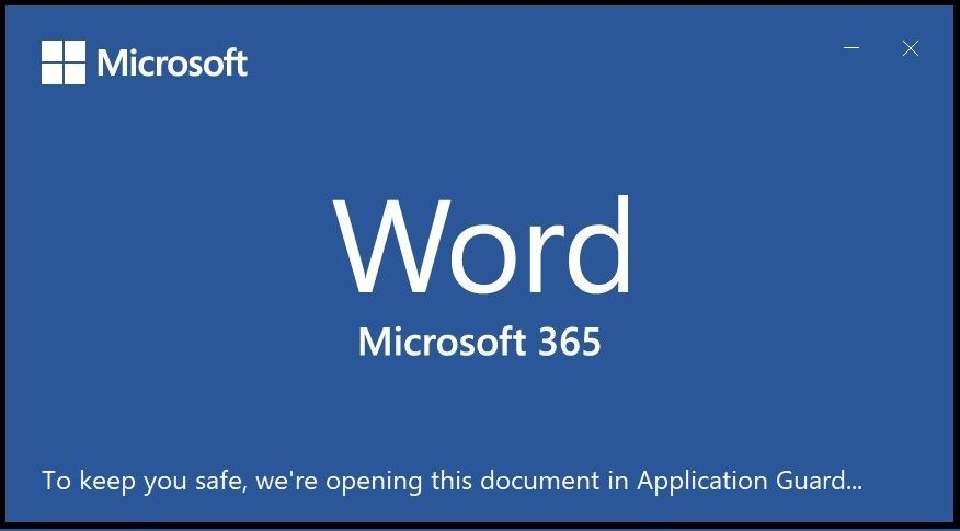 Untrusted Office document opening in AppGuard for Office