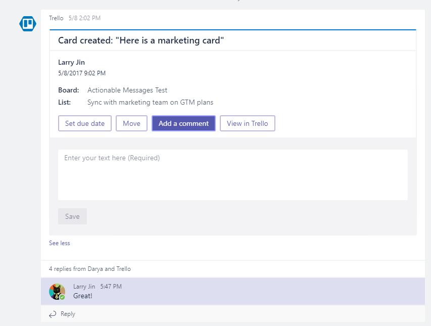 A look at Trello in Microsoft Teams