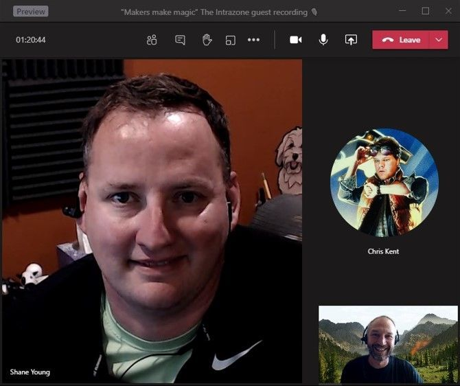Intrazone guests – clockwise, Shane Young (Power Apps guru   PowerApps911) and Chris Kent (Office 365 Practice Lead   DMI), with co-host, Mark Kashman (senior product manager   Microsoft).