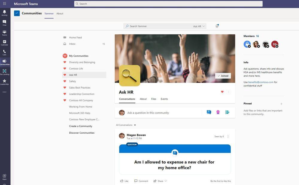 Ask HR community in Microsoft Teams