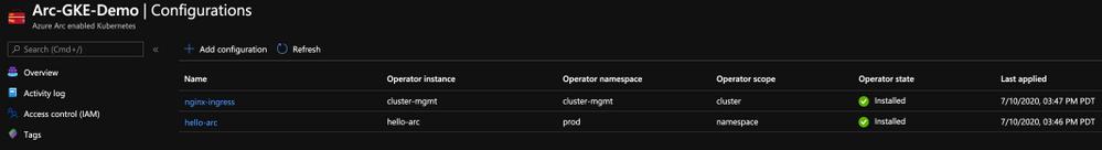 Azure Arc enabled Kubernetes GitOps Configurations