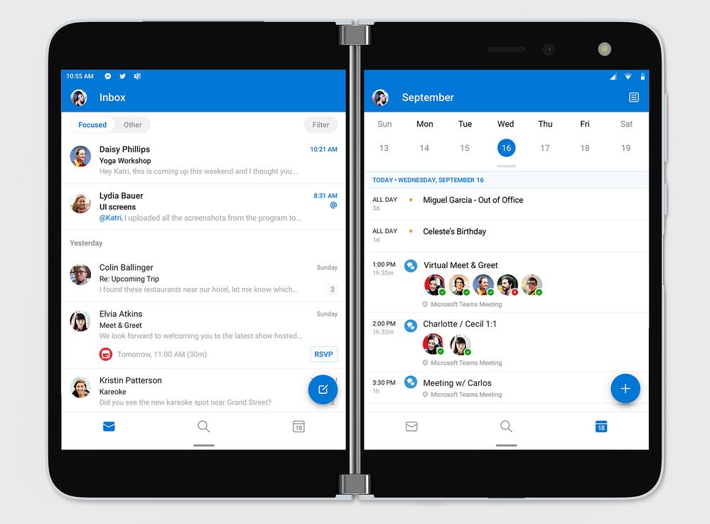 Focused Inbox and Calendar Agenda