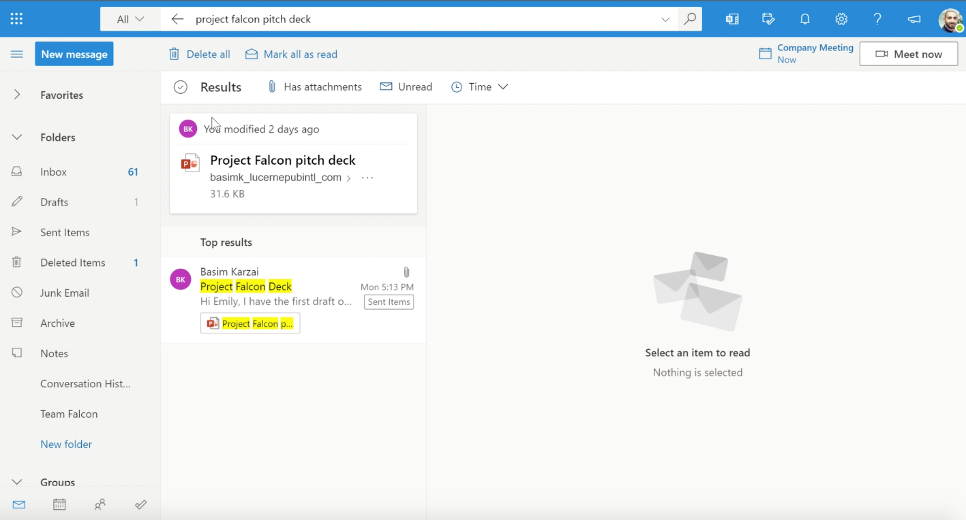 Find the file you are looking for in Outlook, no matter where it is saved