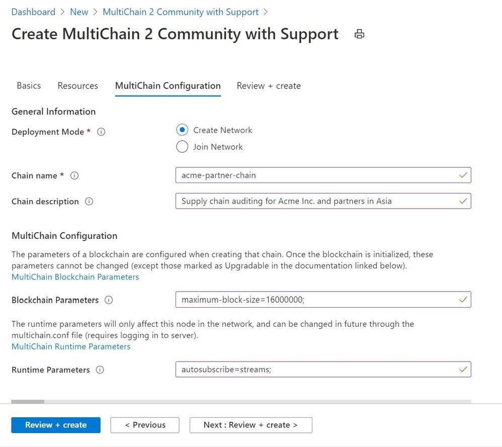 Multichain configuration