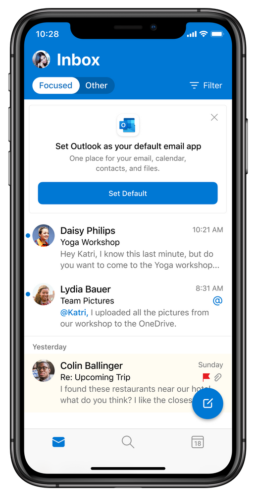 Choose Outlook as your default email app with iOS and iPadOS 14