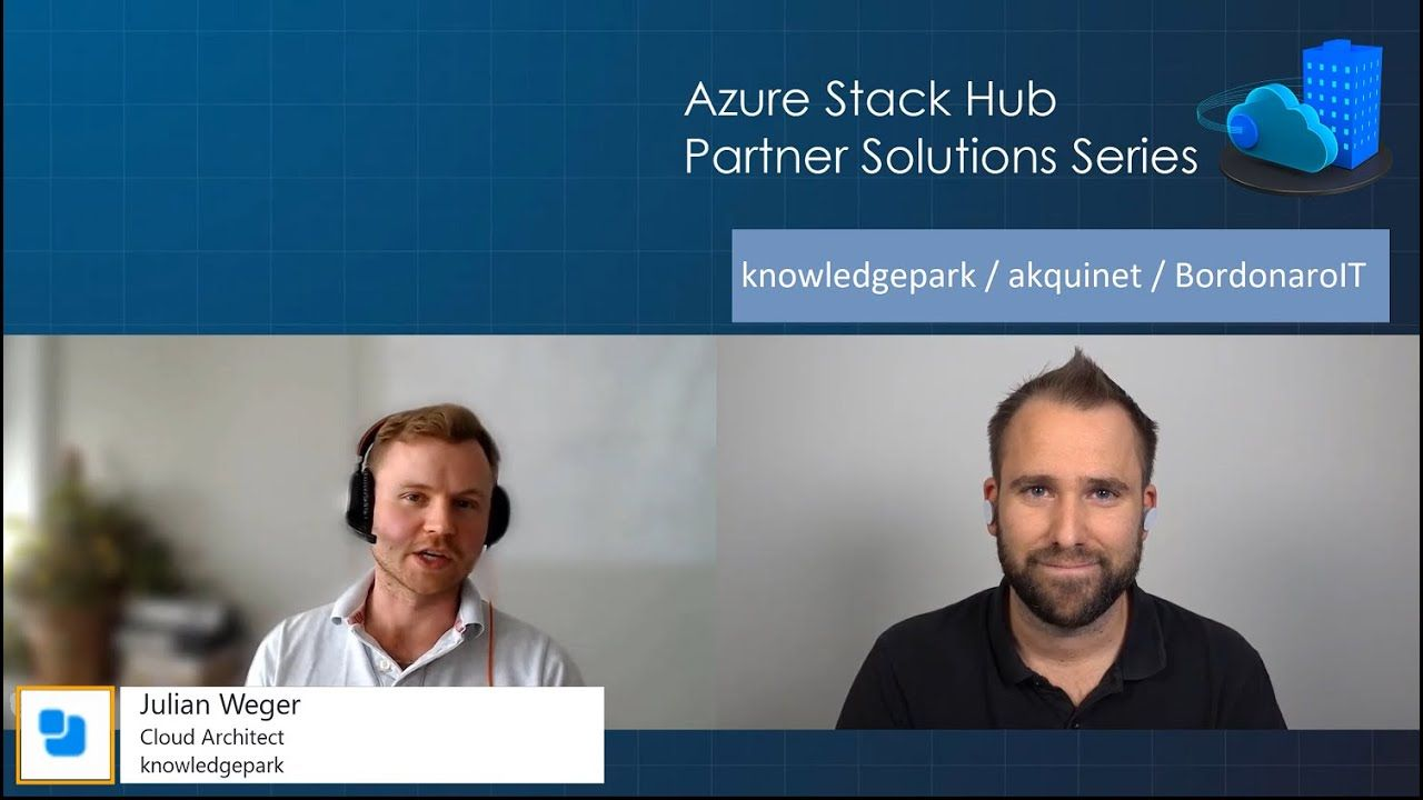 Azure Stack Hub Partner Solutions Series - Knowledge Park
