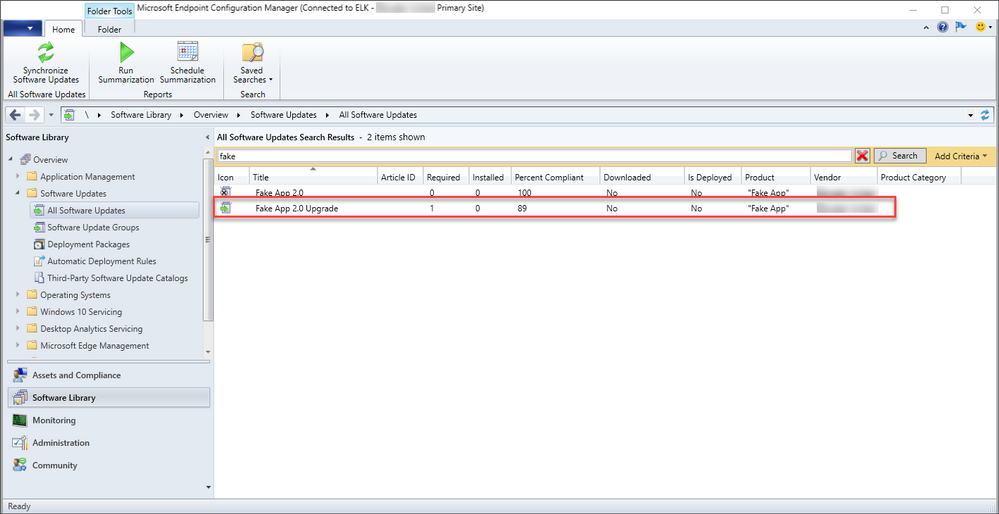 FakeApp 2.0 Upgrade in Configuration Manager