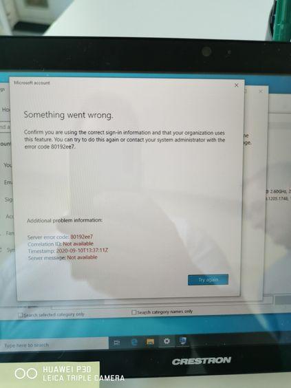 Worksetting failure