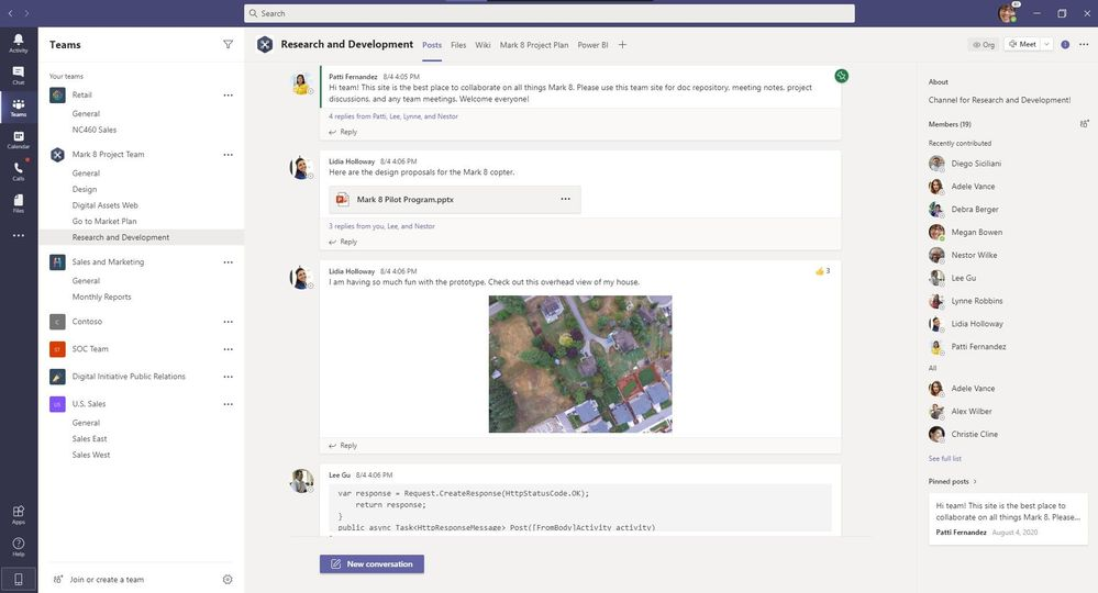 Microsoft Teams - Info Pane-Pinned Posts-New Conversation Button.jpg