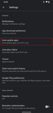 Fig 3. Auto-update apps