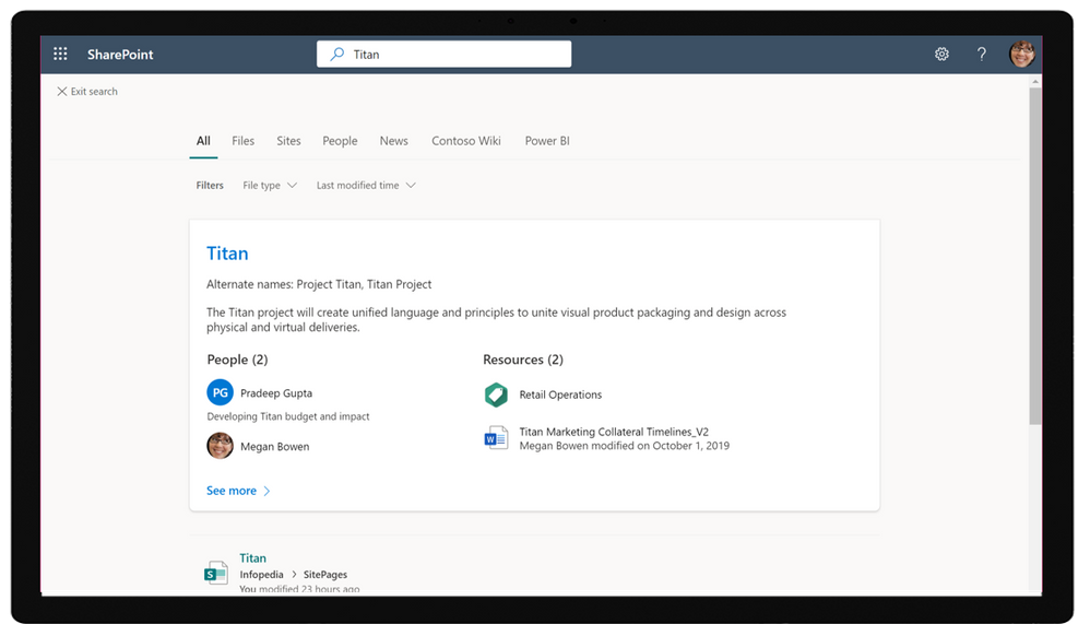 Topic search in SharePoint