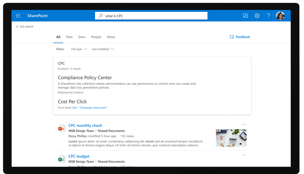Acronym answers in SharePoint