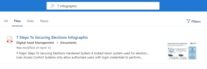 Standard Search Result SharePoint Online