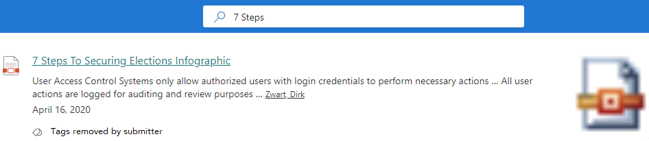 Search Result in PNP Modern Search on SharePoint Online
