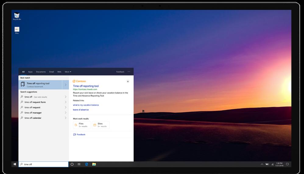 Microsoft Search in Windows