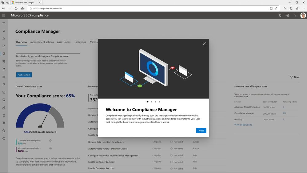 Announcing general availability of Microsoft Compliance Manager