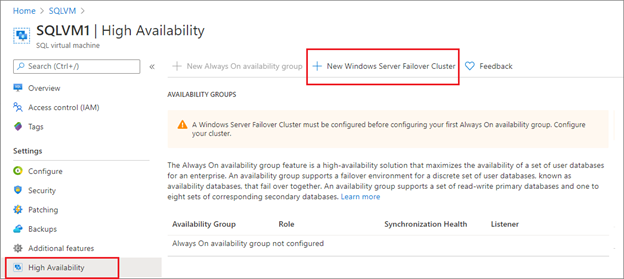 Configure High Availability easily with Azure SQL VM