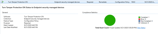View tamper protection status in ConfigMgr.png