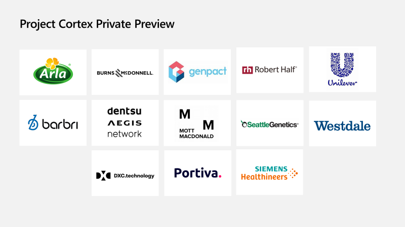 Selected Project Cortex Preview Program participants