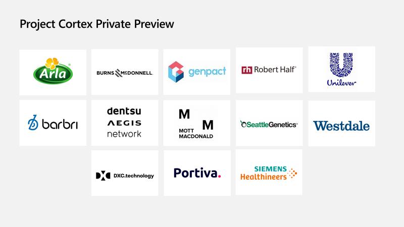 Selected Project Cortex Preview Program participants