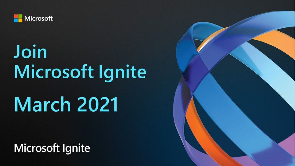 But wait there's more! Join #MSIgnite coming to you digitally in March 2021, showcasing the latest technical announcements from Microsoft and our partners: https://info.microsoft.com/Flagship-Events-Get-Updates-Page-landing-dynamic.html