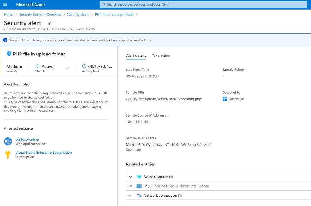 PHP File in upload folder alert