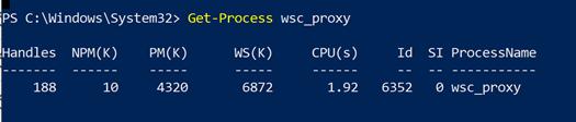 Image 2: Get-Process output