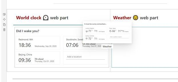 Note the 'ghosting' effect now when you move web parts in SharePoint page edit mode.