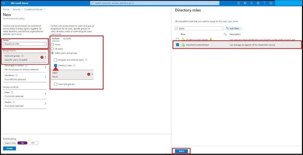 Adding SharePoint Admin in Policy