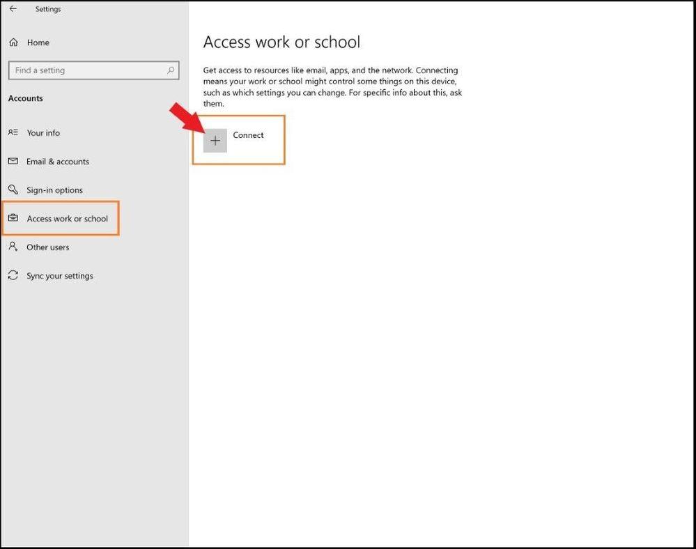 Adding Work or School Accont