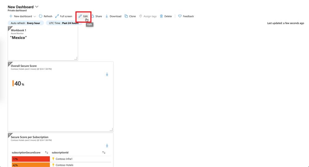 Figure 16: edit dashboard