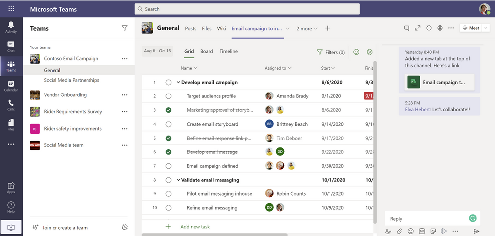 thumbnail image 1 of blog post titled              Announcing Project and Roadmap apps for Microsoft Teams