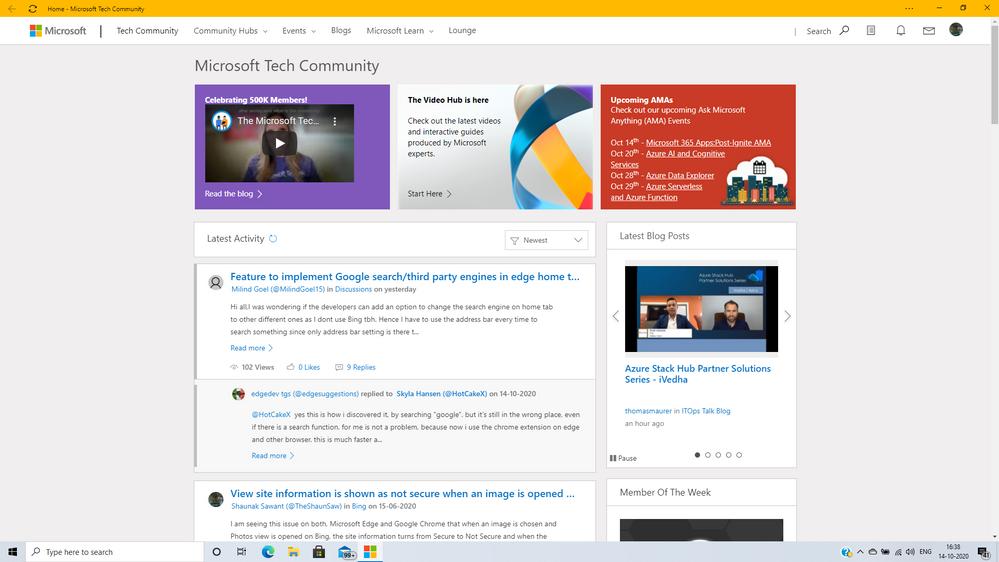 PWA of Microsoft Tech Community