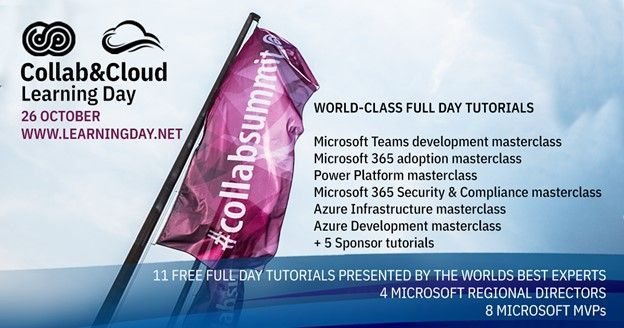 Join in the Collab & Cloud Learning Day filled with 11 world-class, full-day tutorials (workshops)